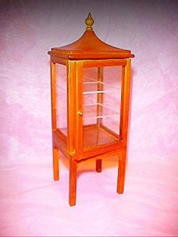Dollhouse Asian Pagoda Style Display Case Curio Cabinet 1:12 Miniatures – My Mini Garden D ...