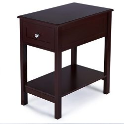 SONGMICS Side Table with Sliding Drawer Storage Bedside End Table Night Stand for Living Room Br ...