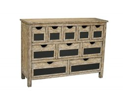 Pulaski Carole Accent Chest, 50 by 36 by 16-Inch, Natural/Brown