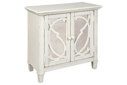 Ashley Furniture Signature Design – Mirimyn 2-Door Accent Cabinet – Scroll Pattern o ...