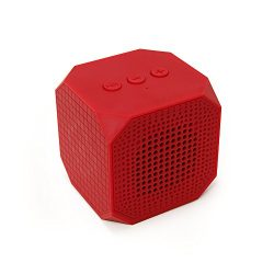 MQbix MQBK3010RED MUSICUBE Wireless Portable Bluetooth Speaker with Built-In Mic for Bluetooth E ...