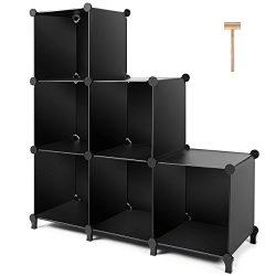 TomCare Cube Storage 6-Cube Closet Organizer Storage Shelves Cubes Organizer DIY Plastic Closet  ...