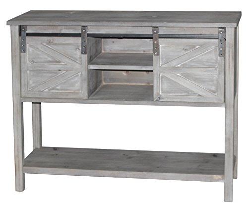 Sliding Door Farmhouse Table: Antique Farmhouse Console Table With 2 Sliding Barn Doors