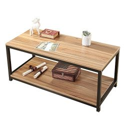 Soges Modern End Table 40″ Coffee Table TV Stand Side Table Sofa Table, Oak TVST-OK-100