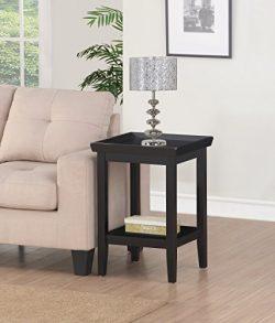 Convenience Concepts 501045BL End Table, Black