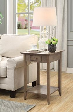 Convenience Concepts 7104077DFTW American Heritage End Table, Driftwood