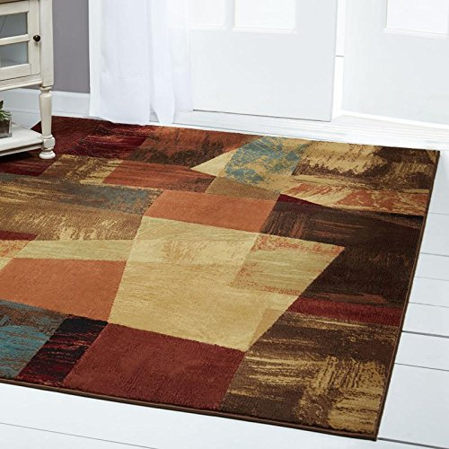 Home Dynamix Catalina Bismark Area Rug | Modern Living Room Rug | Abstract Square Design | Textu ...
