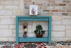 36″ Turquoise Console Table