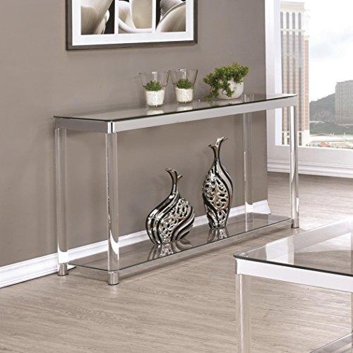 Coaster Home Furnishings 720749 Sofa Table, Chrome