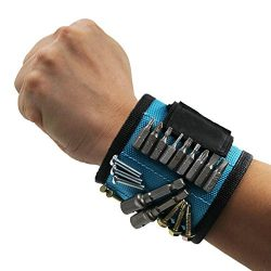 Liping Magnetic Wristband for Holding Tools, Screws, Nails, Bolts, Drilling Bits.Wonderful Gift  ...