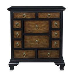 Pulaski P020232 Millicent 12 Drawer Two Tone Accent Chest, 34″ x 13″ x 38″, Ma ...