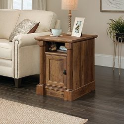 Sauder 420715 Side Table, 19.92″ L X 23.03″ W X 25.43″ H, Vintage Oak