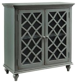 Ashley Furniture Signature Design – Mirimyn 2-Door Accent Cabinet – Antique Gray Fin ...