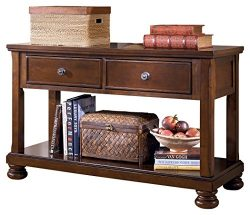 Ashley Furniture Signature Design – Porter Sofa Table – Rustic Style Entertainment C ...
