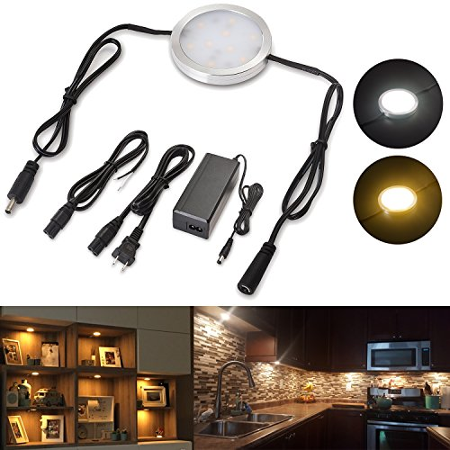Lvyinyin Under Cabinet Lighting Linkable Led Puck Wall