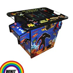 Wintex 2 Sides to 2 Players Arcade Machine Cabinet Kit Cocktail Table Video Game Console Tableto ...