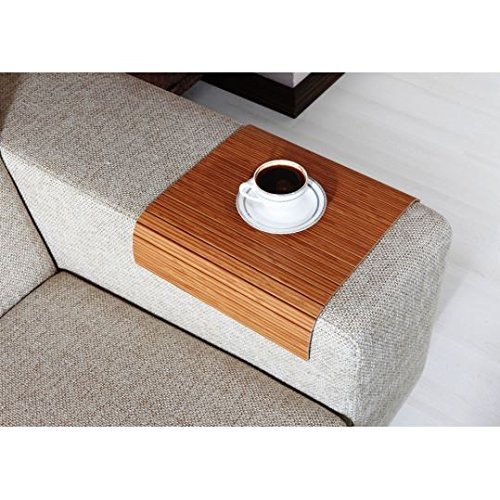 Full Slatted Exotic Bamboo 30cmx40cm Sofa tray, sofa table, arm table,couch tray, wooden tray,wo ...