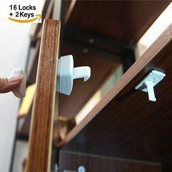 Magnetic Locks | Cupboard Locks | Cabinet Locks | Hidden Locking System No Drilling & Screws ...