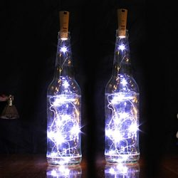 Goldluxury Wine Bottle Lights,Set of 9 White Colors LED Wire String Lights for Bottle DIY, Party ...
