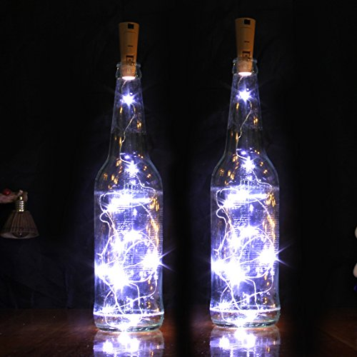 Goldluxury Wine Bottle Lights,Set of 9 White Colors LED Wire String Lights for Bottle DIY, Party ...