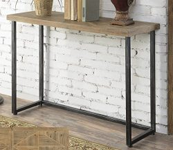 Convenience Concepts Laredo Parquet Console Table, Natural & Black