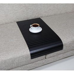 Full Slatted Super Black 30cmx60cm Sofa tray, sofa table, arm table,couch tray, wooden tray,wood ...