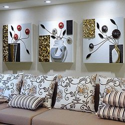 DIDIDD Modern Simple Living Room Sofa Background Wall Decoration Painting European Three-Dimensi ...