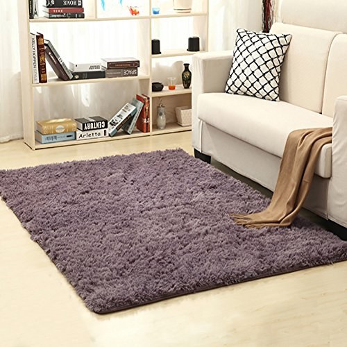 LOCHAS Soft Indoor Modern Area Rugs Fluffy Living Room Carpets Suitable for Children Bedroom Dec ...