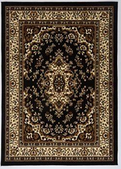 Antep Rugs Kashan King Collection Himalayas Oriental Polypropylene Indoor Area Rug (Black/Beige  ...