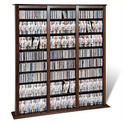 Atlin Designs 64″ Triple Media Storage Rack in Espresso