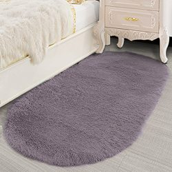 Lee D.Martin Ultra Soft Children Rugs Living Room Bedroom Oval Carpets Modern Shaggy Area Rugs A ...