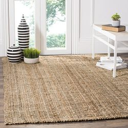 Safavieh Natural Fiber Collection NF447A Hand Woven Natural Jute Area Rug (6′ x 9′)