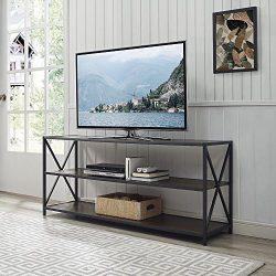 WE Furniture AZS60XMWDW Console Table, Dark Walnut