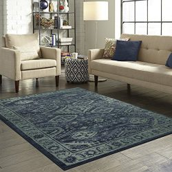 Maples Rugs Area Rugs – Georgina 7 x 10 Non Slip Large Rug [Made in USA] for Living Room,  ...