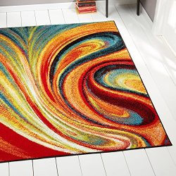 Home Dynamix Splash Adja Area Rug | Contemporary Living Room Rug | Abstract Brushstrokes | Bold  ...