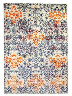 Super Area Rugs 8 x 10 Modern/Traditional Vintage Distressed Area Rug for Living Rooms and Open  ...