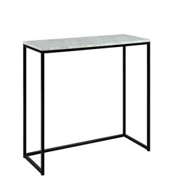 Abington Lane Modern Marble Finish Console – Accent Table for Entryway, Hallway, Living Ro ...