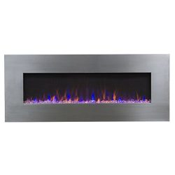 Touchstone AudioFlare 80024 50″ Stainless, Electric Fireplace With Bluetooth Speaker …