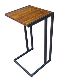 Design 59 inc Acacia Hardwood C Table/End Table/Laptop Stand, NO ASSEMBLY REQUIRED