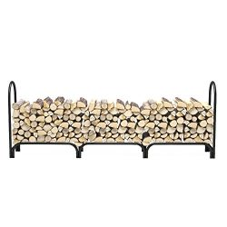 Regal Flame 8 ft Deluxe Heavy Duty Firewood Log Rack for Fireplaces and Fire Pits to Enjoy a Rea ...