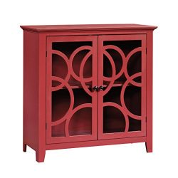 Sauder 416840 Display Cabinet, Plum Red