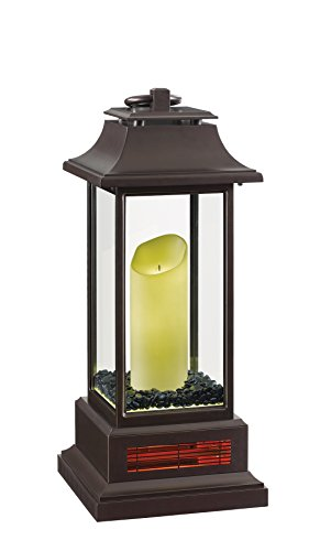 Duraflame 10ILH100-01 27″ Portable LED Electric Flameless Candle Lantern with Quartz Infra ...