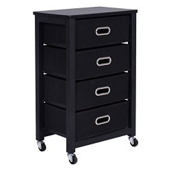 Officejoy 4 Drawers Office Cabinet Rolling Mobile File Cabinet Pedestal Storage Organizer with W ...