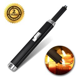 JFQ sunsine Electric Candle Lighter -Arc Plasma Windproof Fire BBQ Atomic USB Lighters Safty for ...