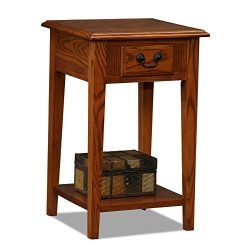 Leick Shaker Square End Table, Medium Oak