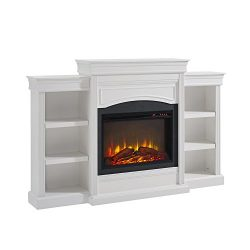 Altra Furniture Ameriwood Home Lamont Mantel Fireplace, White