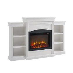 Altra Furniture Ameriwood Home Lamont Mantel Fireplace, White