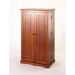 Bowery Hill 40″ CD DVD Wall Media Storage Cabinet in Walnut