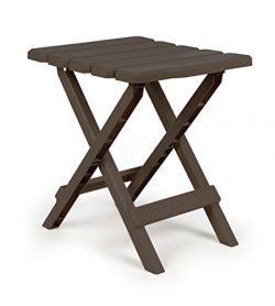Camco Adirondack Portable Outdoor Folding Side Table, Perfect For The Beach, Camping, Picnics, C ...