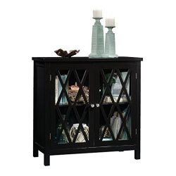 Sauder 420218 Harbor View Accent Storage Cabinet, Black
